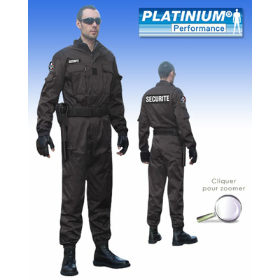 Combinaison Intervention Platinium noire PERFORMANCE ®
