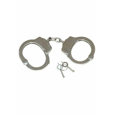 """Menottes """"police"""" en nickel plaqué 2 clés incluses"""
