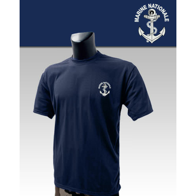 Tee-Shirt Bleu imprimé Marine Nationale
