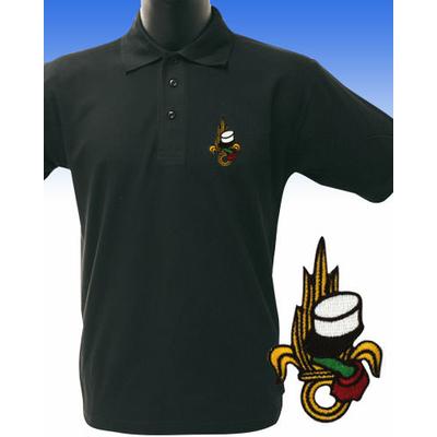 Polo noir brodé LEGION