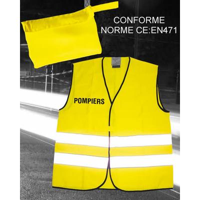 Gilet fluo haute visibilité SAPEURS POMPIERS