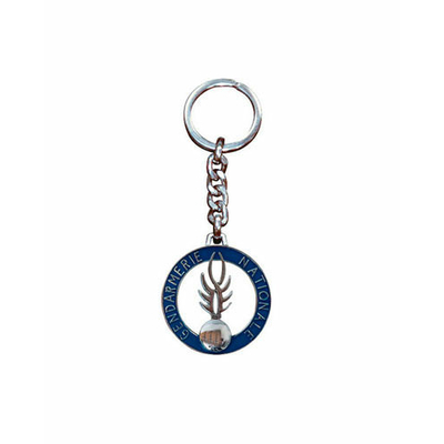 Porte-clés flamme métal Gendarmerie