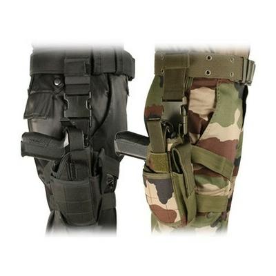 Holster Tactical de cuisse noir ou camouflage