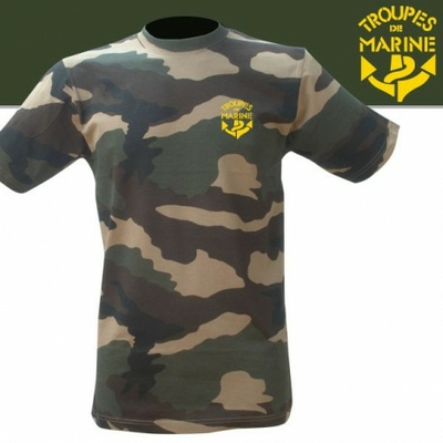 TEE SHIRT CAMOUFLAGE SERIGRAPHIE TDM
