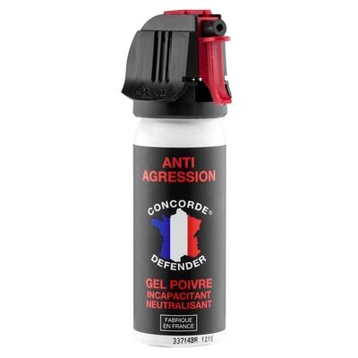 Bombe de défense lacrymogène 50 ml gel poivre
