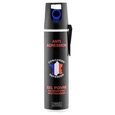 Bombe de défense lacrymogène 75 ml gel poivre