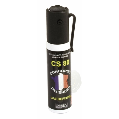 Bombe de défense gaz cs 25 ml