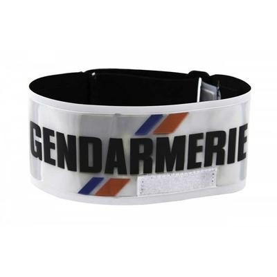 Brassard Gendarmerie rétroréfléchissant réglable avec porte matricule