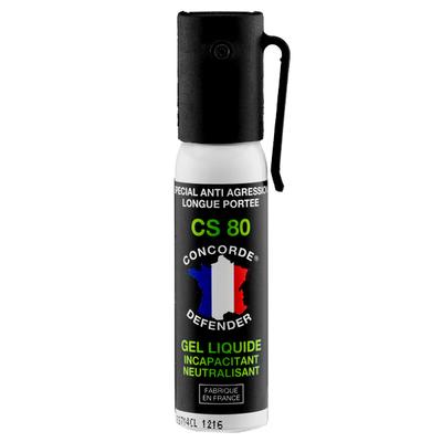 Bombe de défense lacrymogène gel cs 25 ml