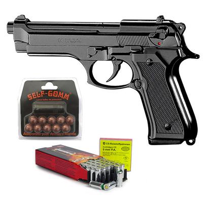Pack Pistolet à blanc Beretta 92 F noir calibre 9mm