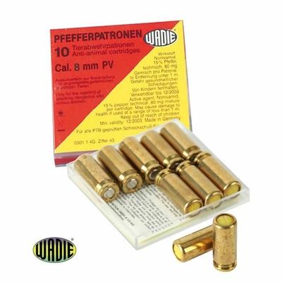 Boîte de 10 cartouches gaz poivre 9 mm pistolet
