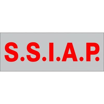 Bande rétro-réfléchissante pour poitrine S.S.I.A.P 5 x 13cm