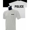 tee shirt blanc police