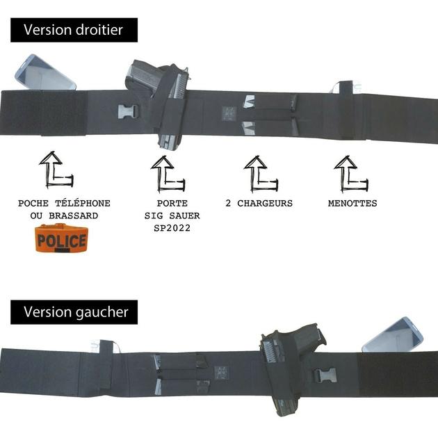holster ceinture discret