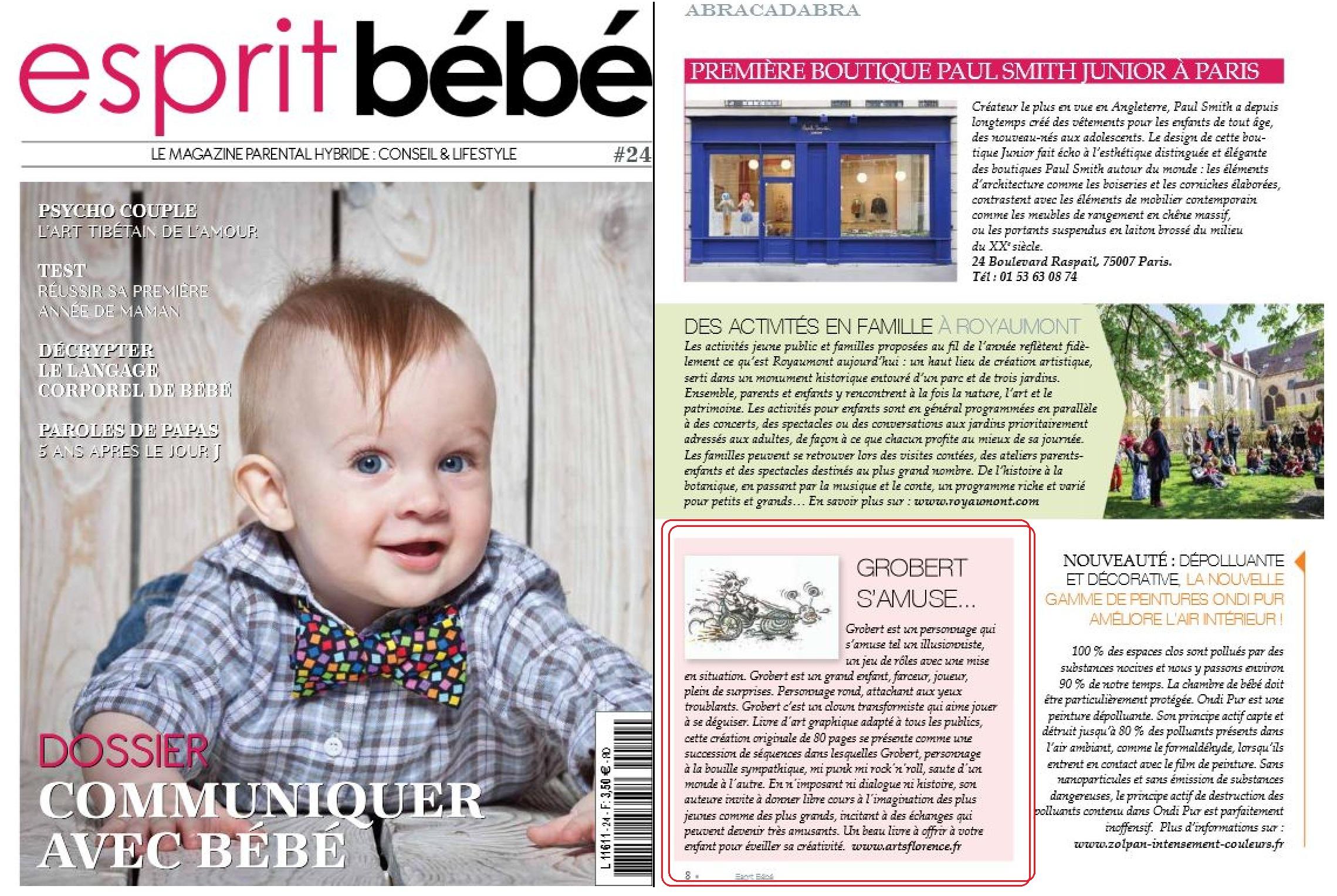 le magazine esprit b b parle de artsflorence et de son. Black Bedroom Furniture Sets. Home Design Ideas