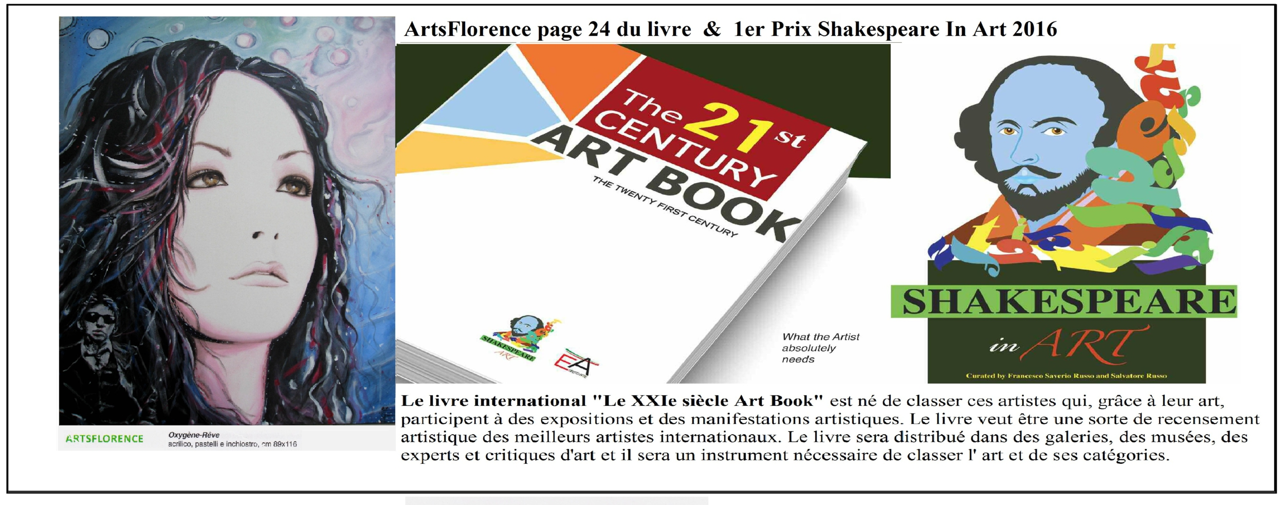 Arts florence présente dans le livre The twenty first century art book international