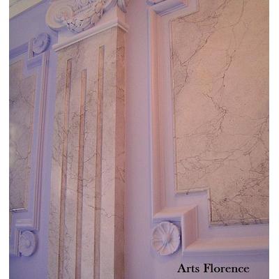 Pilastre faux marbres
