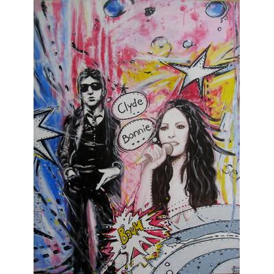 Bonnie & Clyde - artsflorence - artiste contemporain -France