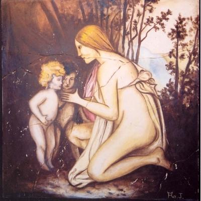 la mère et enfants