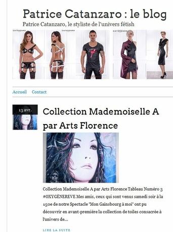 artsflorence dans le blog du styliste patrice catanzaro