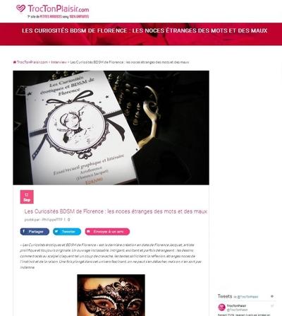 artsflorence interview par TrocTonPlaisir