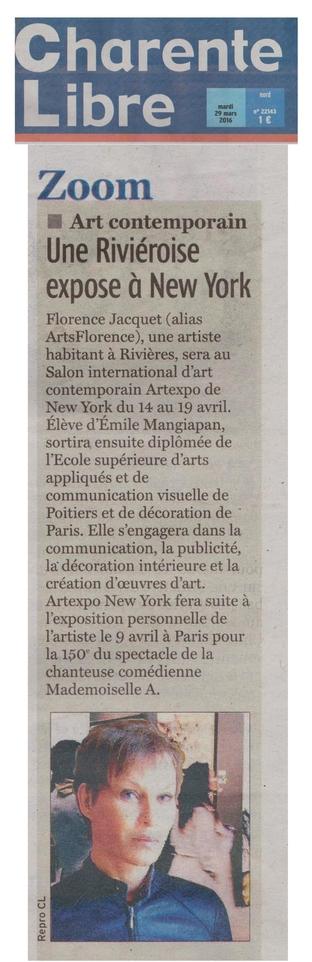 Artsflorence - CharenteLibre - 29 Mars 2016