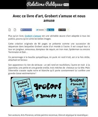 artsflorence - relations publiques pro - livre grobert s'amuse