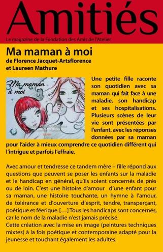 artsflorence-amitiès magazine-fondation des amis de l'atelier parle de ma maman à moi