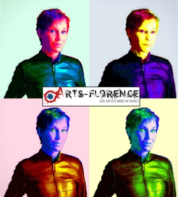 artsflorence - florence jacquet -portrait pop art - artiste made in france