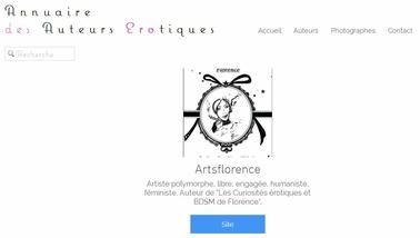 artsflorence et les curiosités érotiques et bdsm de florence dans l'annuaire des auteurs érotiques de galan dorgia