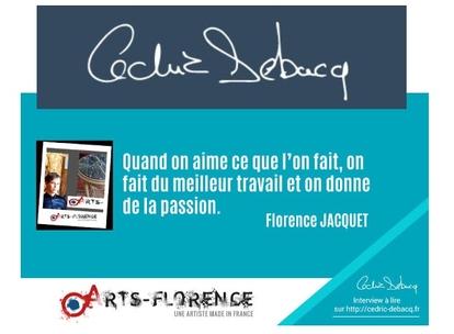 interview artsflorence - florence jacquet sur blog entrepreneurs cedric debacq