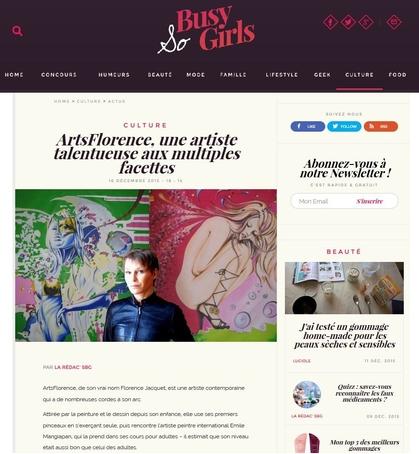 Sobusygirls présente artsflorence - florence jacquet - art et culture - art contemporain - marque française