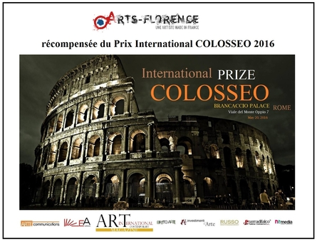 artsflorence recoit le prix international Colosseo 2016 - art contemporain - Rome - Italie