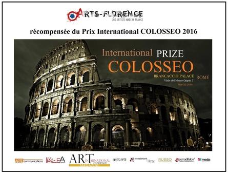 artsflorence recoit le prix international Colosseo 2016 - art contemporain - Rome - Italie