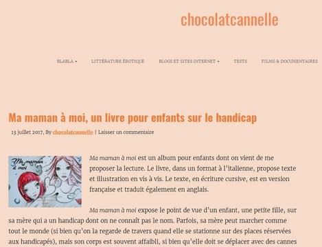 chocolatcannelle le blog parle du livre ma maman à moi