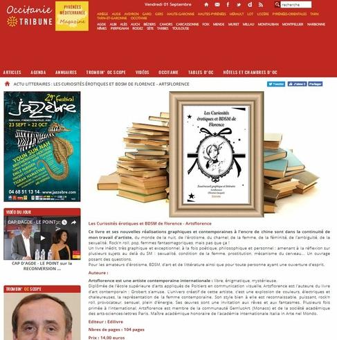 artsflorence -occitanie magazine actualité littéraire les curiosités érotiques et bdsm de florence
