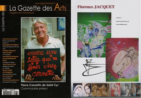La gazette des Arts magazine présente florence jacquet et artsflorence