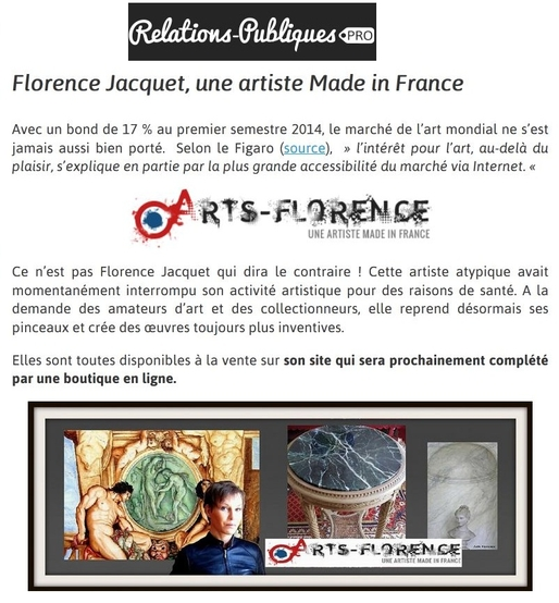 Artsflorence - relations publiques pro - florence jacquet - made in france