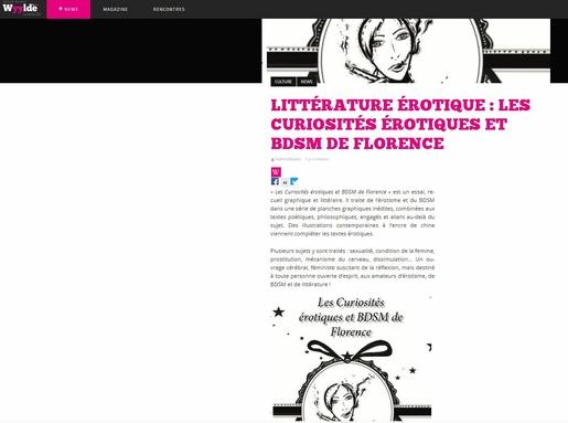 le magazine wyylde parle des curiosités érotiques et bdsm de florence - artsflorence