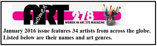 women in art 278 - janvier 2016 - magazine femmes de l'art dans le monde
