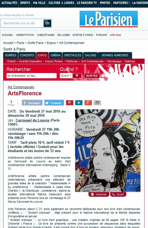 Artsflorence Le Parisien en parle - expo au louvre