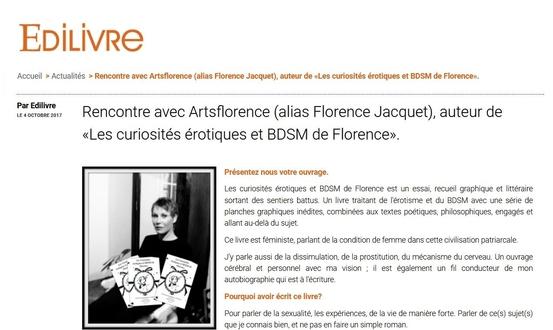 édilivre fait l'interview d'artsflorence