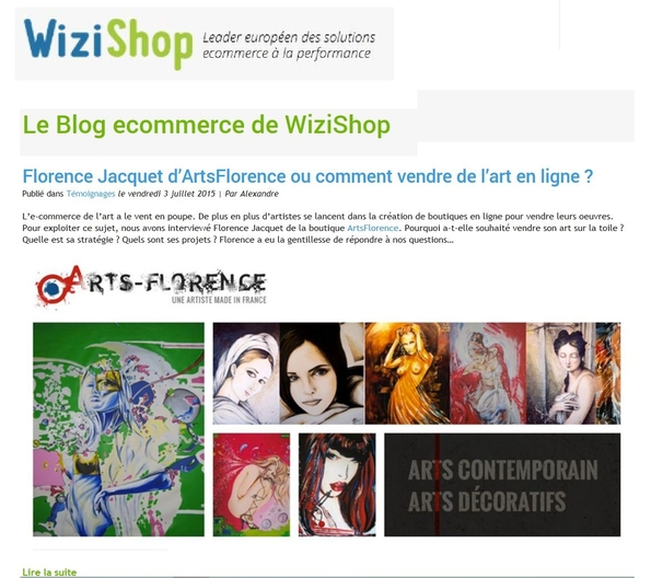 artsflorence en interview sur le blog wizishop