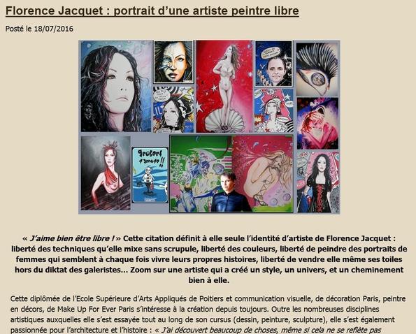 portrait de l'artiste artsflorence par andrée muller lesludiques