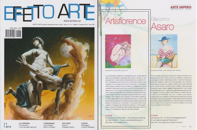 effetto arte - magazine international art contemporain parle de artsflorence