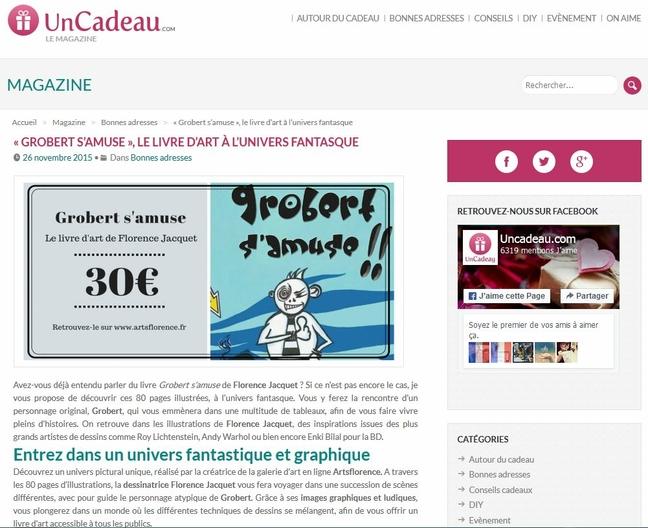 UnCadeau.com fait un article sur Artsflorence