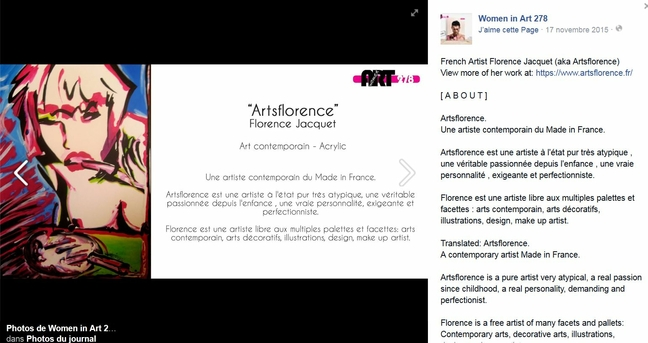arts florence dans women in art 278 - artiste contemporain international - france