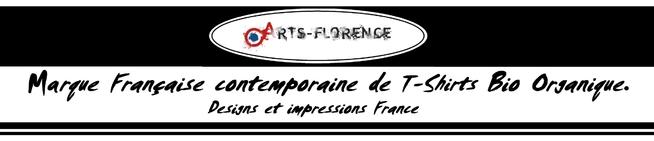 logo bandeau artsflorence t-shirt bio marque française contemporaine