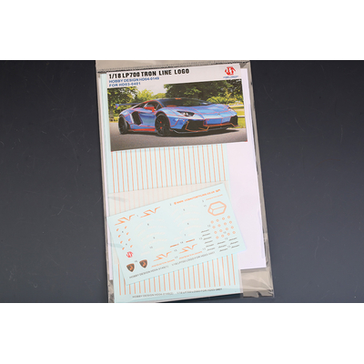 1/18 Decals Tron Lamborghini Aventador LB Performance