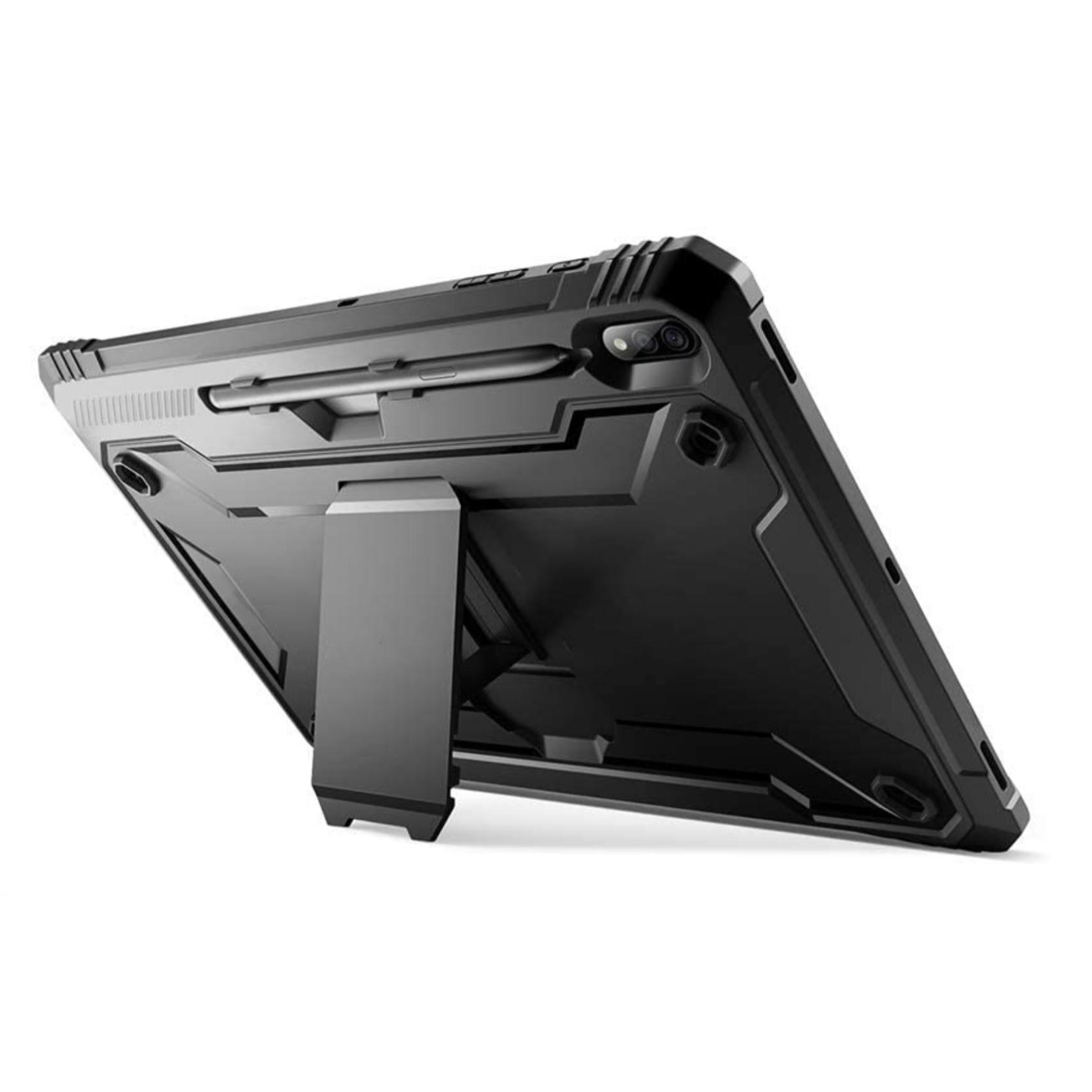 Galaxy TAB S7 Plus 12.4p Coque de Protection avec film rigide ecran et support stylet